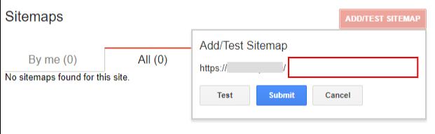 구글 사이트맵 새로 추가하기