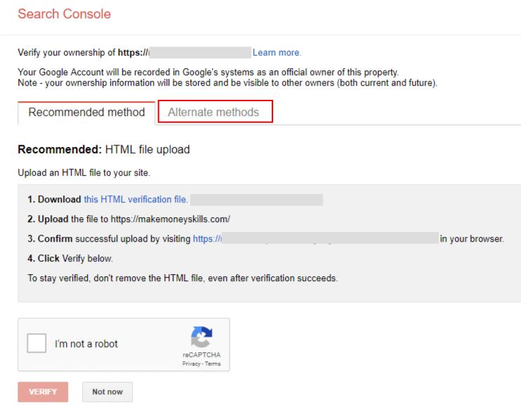 구글 서치 콘솔 웹사이트 소유 증명하기
