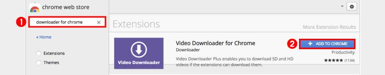 크롬을 위한 downloader 검색하고 크롬에 추가하기