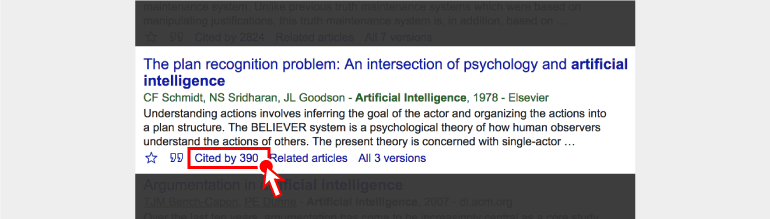 'Cited by' 를 통해서 해당 논문이 어느 곳에 몇번이나 인용됬는지 확인하자!