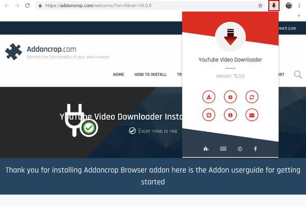 자동으로 인스톨이 되어, 아래와 같이 해당 개발 홈페이지로 이동되며, 오른쪽 상단에 새 아이콘이 생긴 것을 확인할 수 있습니다.