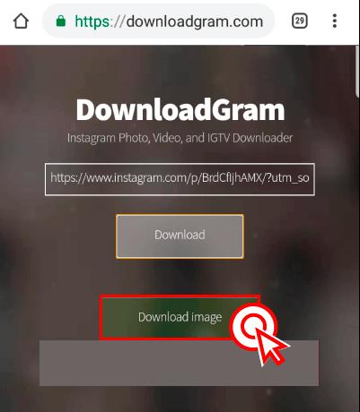 """5)아래 새로 나타난 """"Download image"""" 버튼을 선택하면 바로 다운로드가 실행이 됩니다."""