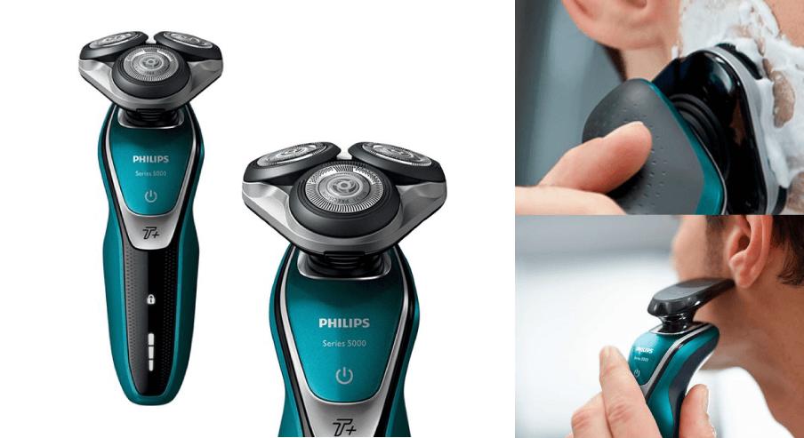 5) 필립스 5000시리즈 전기면도기 + 스마트 클릭 트리머 + 케이스