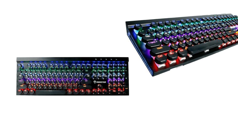 몬스타 데빌스킬 뉴페이스 적축 기계식 키보드 MK108