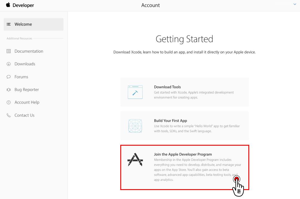 애플 디벨로퍼에 로그인하기 위해서 기존에 사용하던 애플 계정이 있다면 로그인해주시고 없다면 애플 아이디 만들기 방법을 참고하세요.