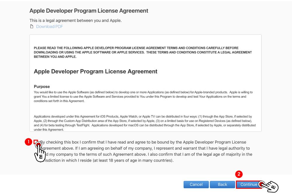 애플 개발자로 등록하기 위해 작성해야할 연락처 정보입니다. 아래 빈 칸에 필요한 사항들을 입력해 주세요.