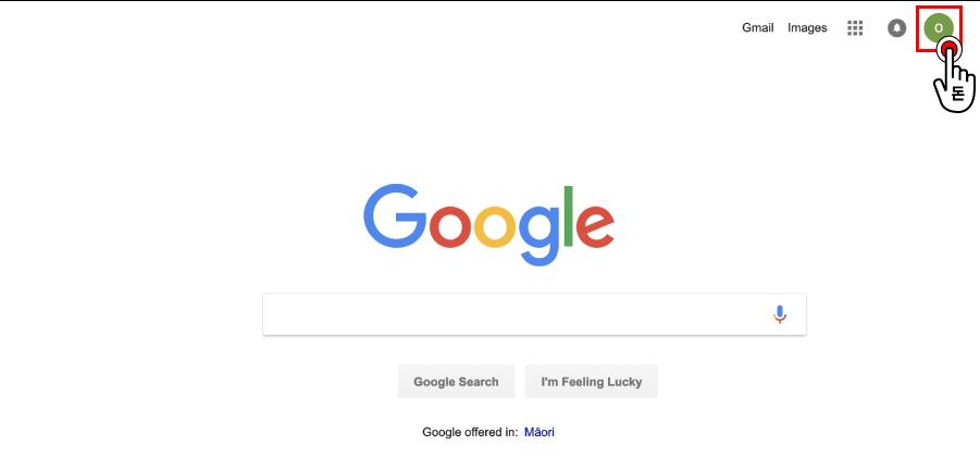 구글 사이트에 방문한 뒤, 로그인된 구글 계정 프로필을 클릭해주세요.