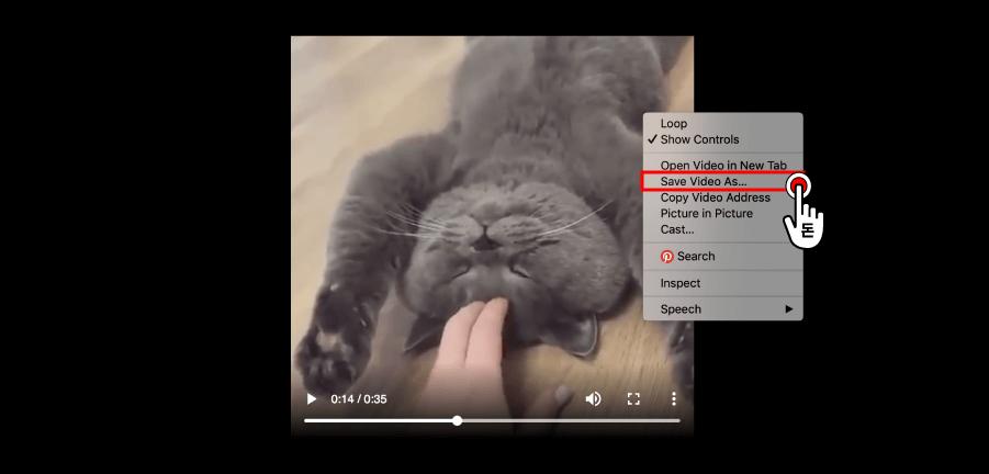 새 창으로 동영상이 나오게 되면, 영상에 마우스 오른쪽 버튼을 클릭한 뒤, Save Video As 버튼을 클릭해서 트위터 동영상 저장을 하시면 되시면 됩니다.